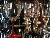漆塗りワイングラスペア