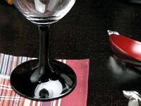 漆塗りワイングラス黒