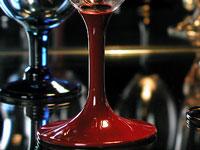 漆塗りワイングラス赤