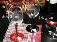 漆塗り ワイングラス