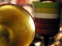 ワイングラス独楽塗り